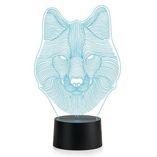 3d Lamp Wolf Head Lamp Led Night Light Animal Table Lamp Https Www Amazon Com Dp B074m9v71z Ref Cm Sw R Led Night Light 3d Lamp Led Color Changing Lights