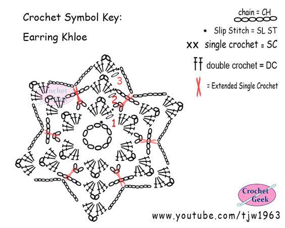 crochet earring khloe