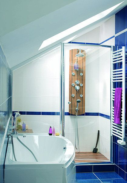 Salle de bains sous les combles