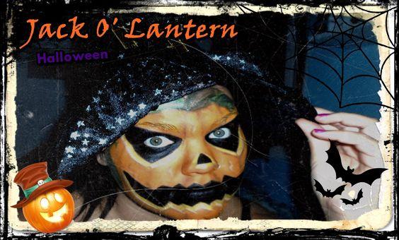 Calabaza Terrorífica Halloween //// Paso a paso - Jack O' Lantern Makeup