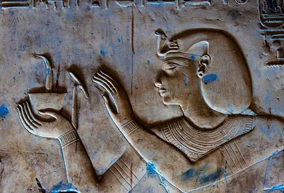 Painted Relief at the Temple of Seti I: Another example of low relief sculpture from the Temple of Seti I