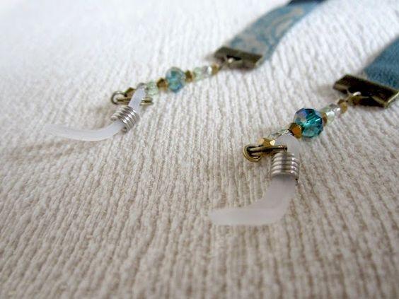 Patchwork by Elektra Z: Cordones de gafas de tonos azules/verdes