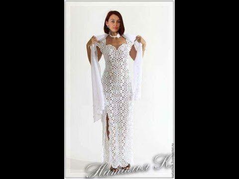 Vestido Longo Em Croche Ponto Leque 3 Youtube Sukienki