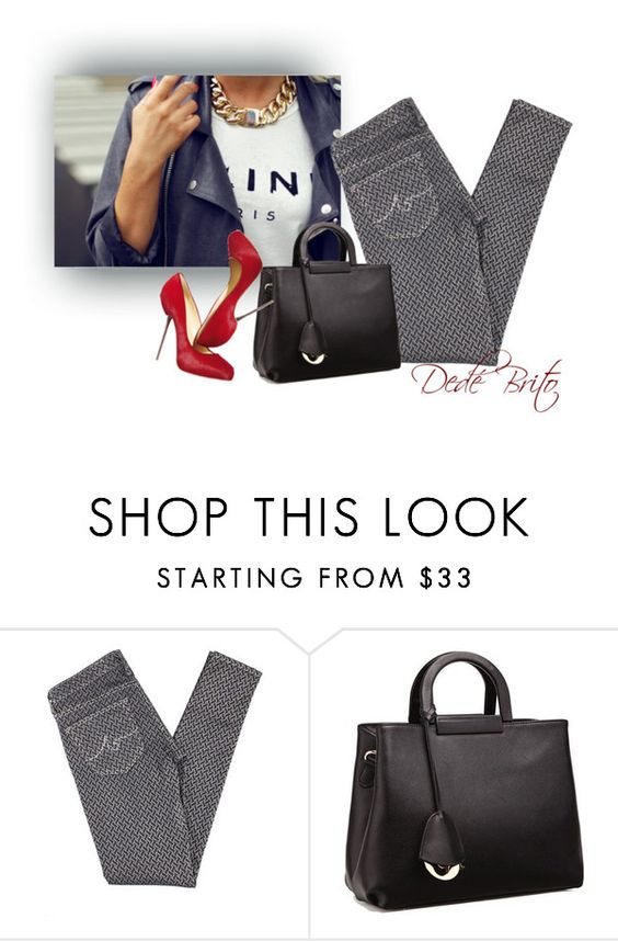 """Sem título #2096"" by dedebrito ❤ liked on Polyvore featuring AG Adriano Goldschmied, Relaxfeel and Christian Louboutin"