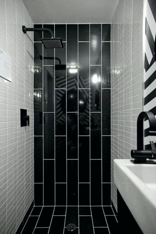 Black Bathroom Tile Ideas Beautiful Black And White Bathroom Tiles Ideas Violethomedecor In 2020 Black Tile Bathrooms Bathroom Shower Design Black Bathroom