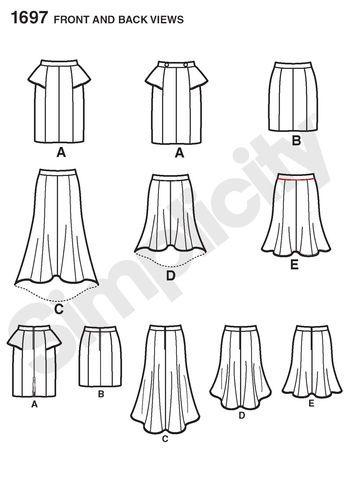 Misses' & Miss Petite Skirts: