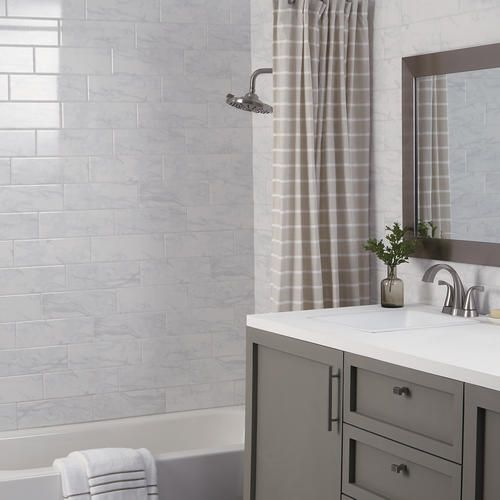 Mohawk Stonebrook Carrara White 4 X 12 Ceramic Wall Tile Ceramic Wall Tiles Wall Tiles Floor Rugs