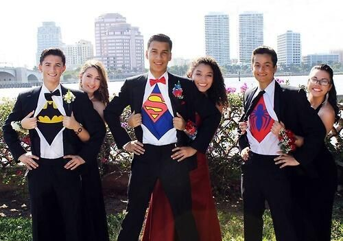 superhero prom picture - Google Search: