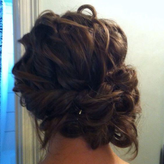 Updo, Bun updo and Prom hair on Pinterest