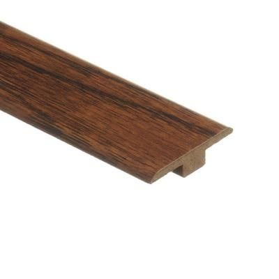 Zamma Cleburne Hickory 7/16 in. Height x 1-3/4 in. Wide x 72 in. Length Laminate T-Molding-013221525 at The Home Depot