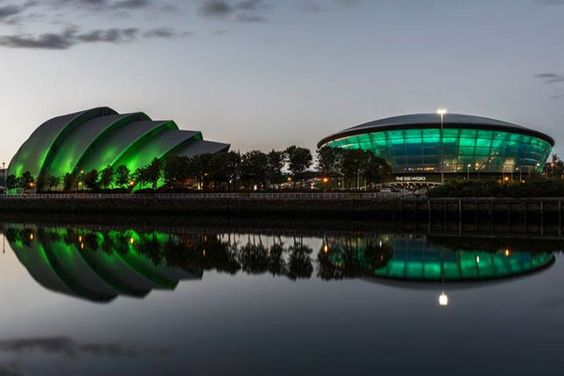 The Clyde Auditorium and the Hydro, Glasgow.