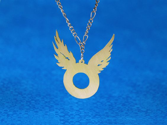 Golden Snitch necklace   metal cutting, material: brass   Simple necklace to celebrate the publication of the Czech translation of the Harry Potter and the Cursed Child.