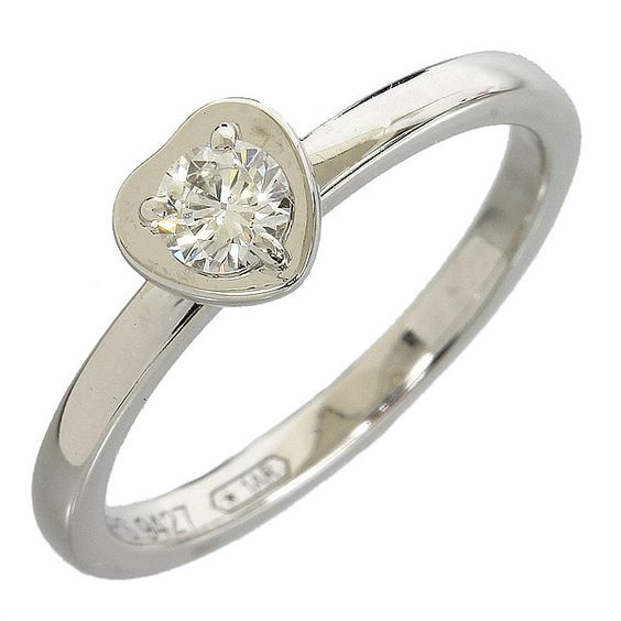 Cartier 18K White Gold Diamond Ring US SIZE 3.75