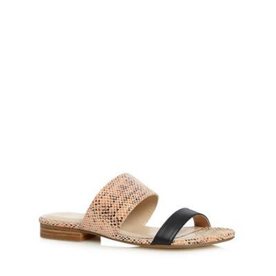 J by Jasper Conran Designer pink leather two tone strap sandals- at Debenhams.com
