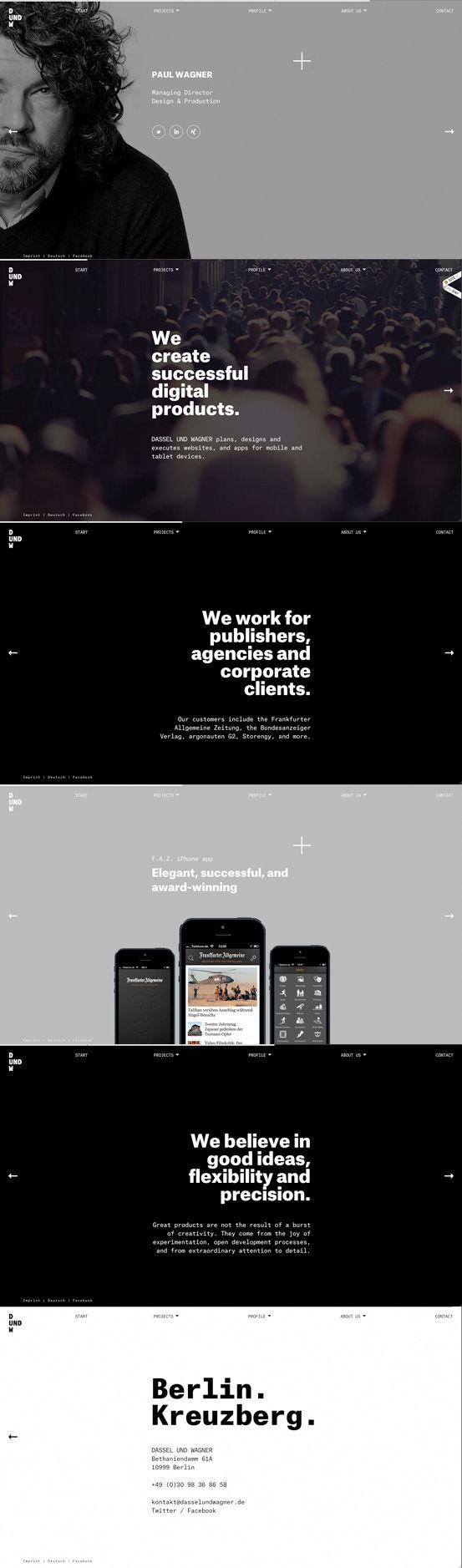 Webpage Screenshot of Designer: Dassel and Wagner | Design: UI/UX. Apps. Websites | http://www.the-webdesign.net