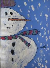 Impressionistic snowman art oil pastels - Google Search