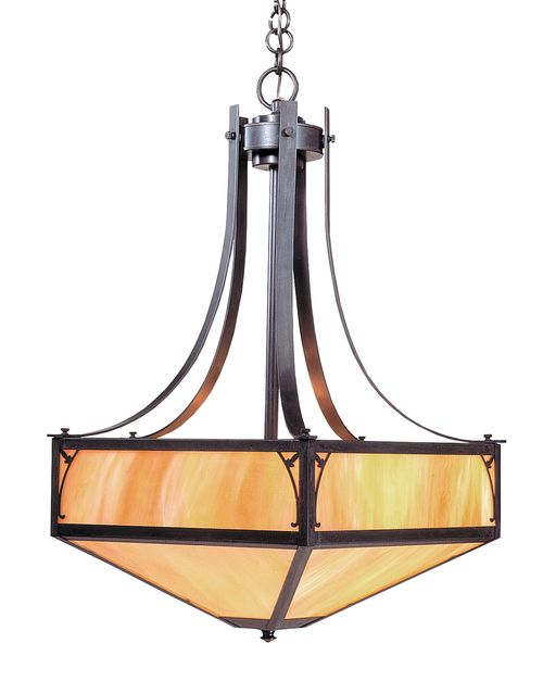 Saint George Sgch 20 Inverted Chandelier Mission Style Lighting