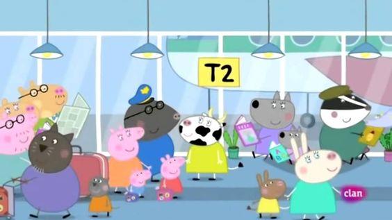 Peppa Pig español De vacaciones en avión