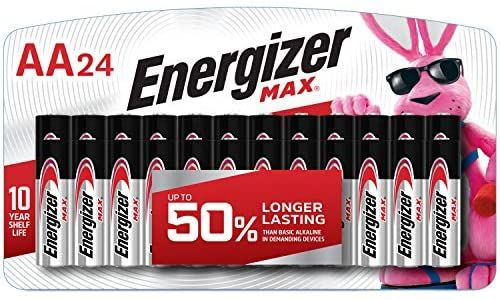 Amazon Com Energizer Aa Batteries 24 Count Double A Max Alkaline Battery Health Personal Care Energizer Alkaline Battery Energizer Battery
