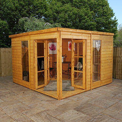 10x10 Pavilion Summerhouse Shiplap T G Garden Room With Https Www Amazon Co Uk Dp B01goj0ngg Ref Cm Corner Summer House Summer House Garden Summer House