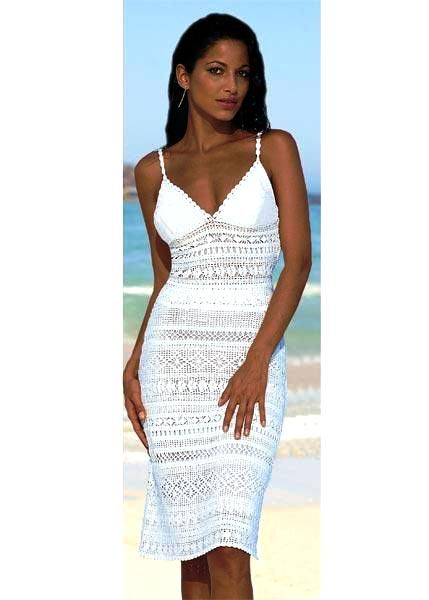 White summer dress with diagrams  Crochet Patterns Vintage Retro ...