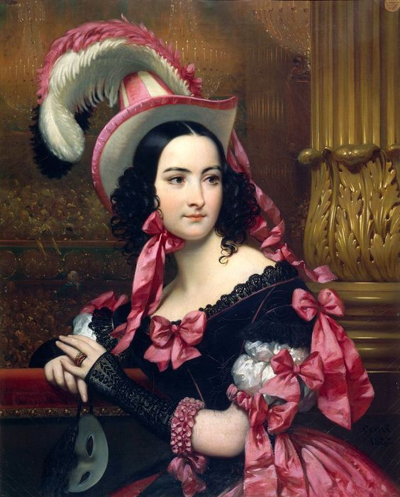 Vénitienne au bal masqué. de Joseph-Désiré Court
