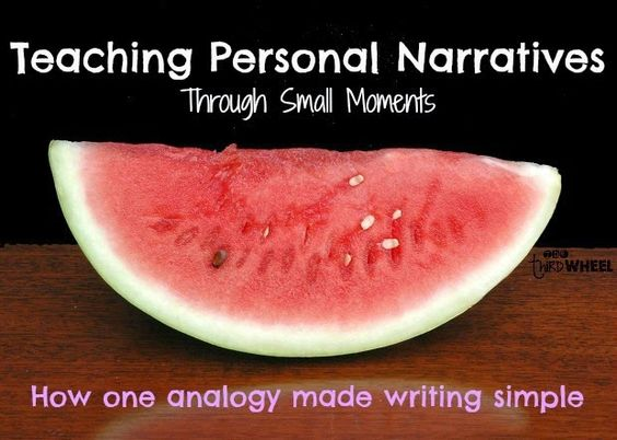 I've been using the Lucy Calkin's Units of Study for a few years now. One of my favorite parts is the analogy watermelons and seeds during the idea generation process for personal narra…