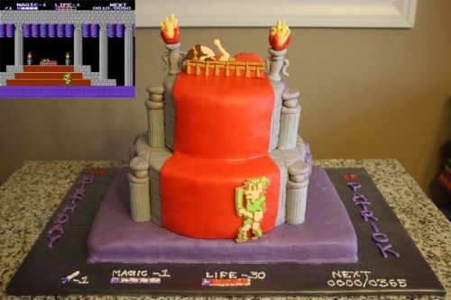 Legend of Zelda II Cake