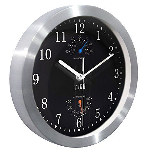 Hito Modern Silent Wall Clock Non Ticking 10 Inch Excellent Accurate Sweep Movement Silver Al In 2020 Wall Clock Clock Colorful Wall Clocks