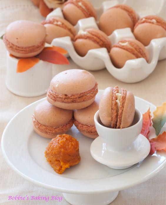 Creme fraiche, Pumpkins and Macaroons on Pinterest