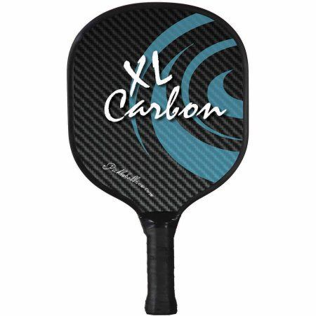 Pickleball Paddle - XL Carbon, Blue, White