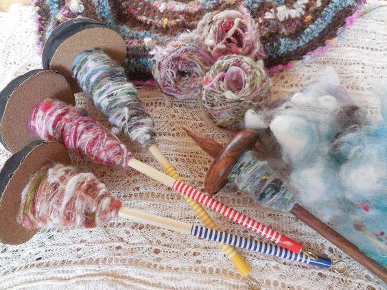 Adoro fiar lã...