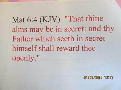 Matthew 6:4 KJV