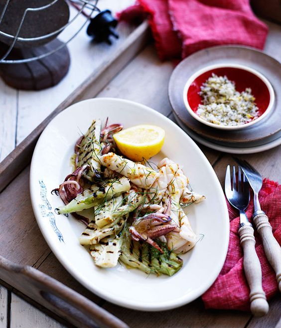 Grilled calamari with fennel and lemon salt | Food | Pinterest ...