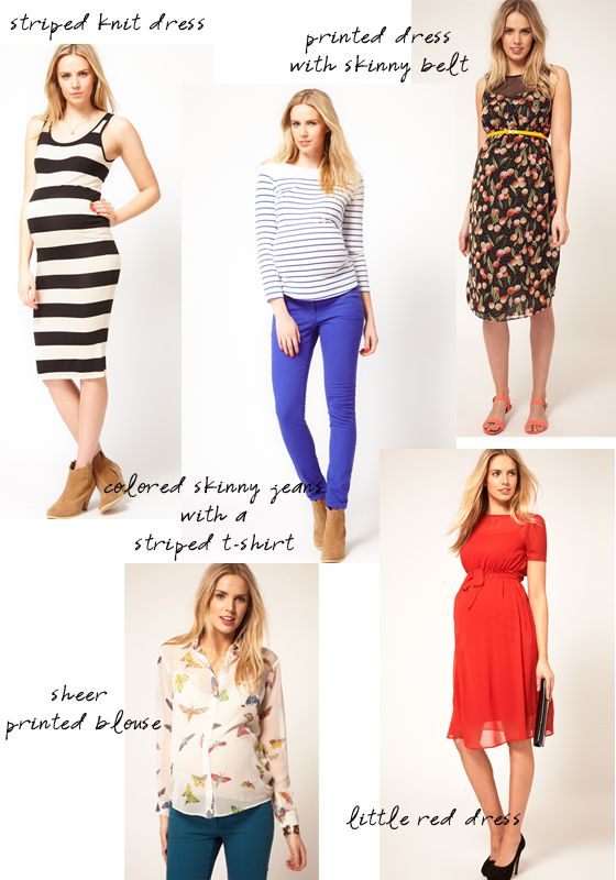 Links to cute maternity clothing sites -- and I love those cobalt ...
