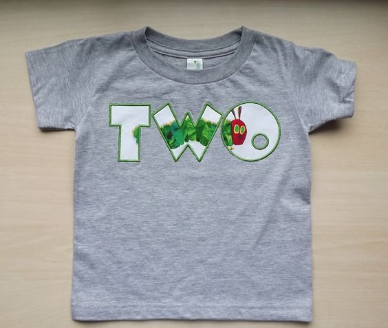 Very Hungry Caterpillar Birthday Number Shirt by SprinklesOfLove - This might be it!