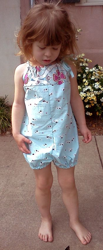 pillowcase bubble romper 12-18 mos. to 6 girls
