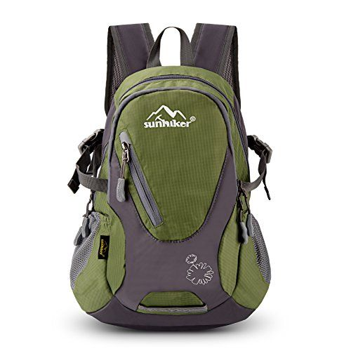 Cycling Hiking Backpack Sunhiker Water Resistant Travel Backpack  Lightweight SMALL Daypack M0714 (Dark Green) *… | Best hiking backpacks, Hiking  backpack, Backpacks