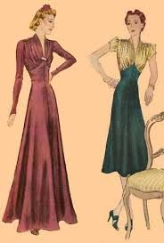 1930s evening dress patterns - Google Search