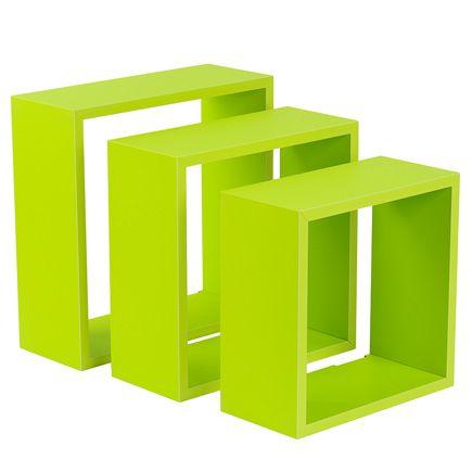 Estante de pared en forma de cubo cantos rectos leroy - Cubos leroy merlin ...