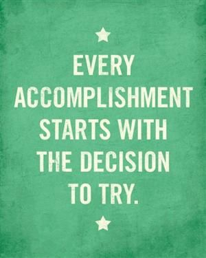 What are you going to accomplish today?