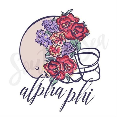 Calling all football fans! How cute is this floral helmet design? We love it on a quarter zip or crew neck sweatshirt!