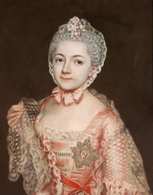 Agnes von Anhalt-Dessau by Christian Friedrich Reinhold Lisiewski, 1763; stomacher almost identical to Sophie's!