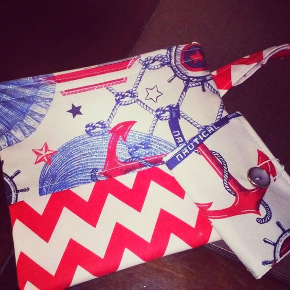 clutch with matching credit card wallet by StitchesbySofia on Etsy, $15.00