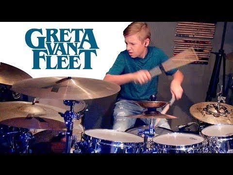 Highway Tune Greta Van Fleet Drum Cover By Avery Drummer Youtube Drum Cover Avery Drums