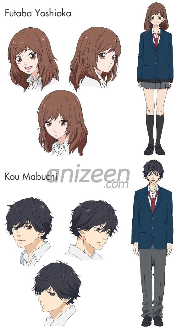Characters in the #2014summer Ao Haru Ride #anime.