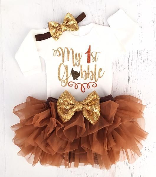 Personalized First Thanksgiving Girl Baby Bodysuit or Toddler T-shirt  Thanksgiving Baby Shirt  Orange Glitter