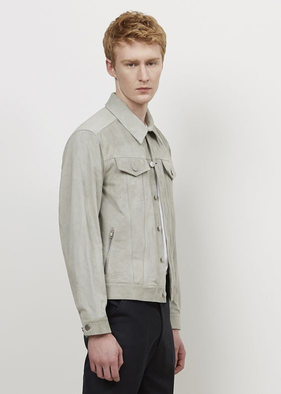 Yang Li Suede Jacket (Grey)