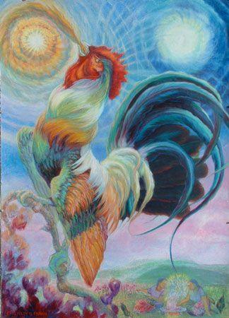 """oil pastel paintings   Little Hawk"""" – Oil Pastels Painting   Eric ..."""