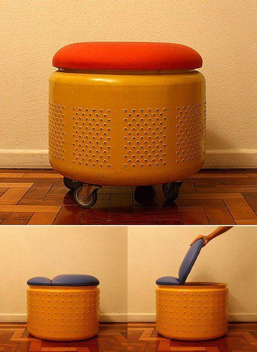 Transformer son tambour de lave-linge en siège